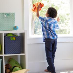 Vaikiškas audinys stiklams (BacLock), oranžinis