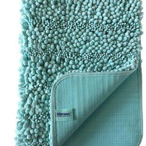 Šenilinis vonios kilimėlis, smaragdo