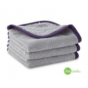 Pliušinis rinkinys makiažui ir kūnui valyti (BacLock®), pilkos su violetiniu apvadu