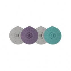 Silikoniniai dangteliai puodeliams, 4 vnt., 12 cm diametro